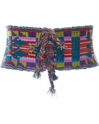 Anna Sui - Gathering Of The Tribes Embroidered Belt - Lyst