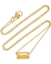 Miansai - Pillar 14k Gold Diamond Necklace - Lyst