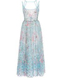 Georges Hobeika - Floral Tea-length Dress - Lyst