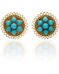 Amrapali - 18k Gold Turquoise Earrings - Lyst