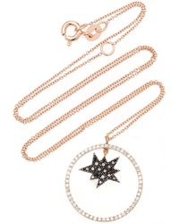Diane Kordas - Black Diamond Explosion Necklace - Lyst