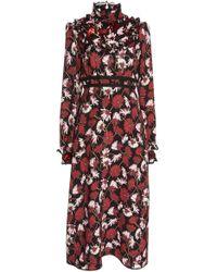 Rochas - Floral Cady Midi Dress - Lyst