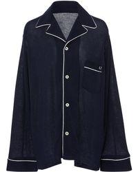 The Elder Statesman - M'onogrammable Embroidered Pyjama Top - Lyst