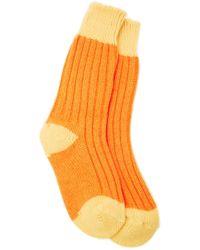 The Elder Statesman | Yosemite Two-tone Ribbed Cashmere Socks | Lyst