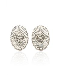 Fallon - One-of-a-kind Oval Etched Earring - Lyst