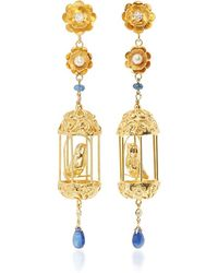 Of Rare Origin - M'o Exclusive Gold Aviary Classic Earrings - Lyst