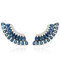 Hueb - Mirage Blue Sapphire And Diamond Earrings - Lyst
