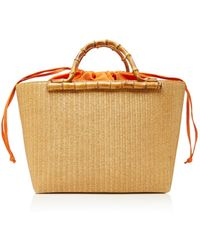 Glorinha Paranagua - Monte Carlo Large Straw Basket Bag - Lyst