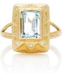 Charlotte Wendes - Secret Forest Aquamarine Ring - Lyst