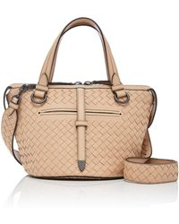 Bottega Veneta - Small Tambura Intrecciato Leather Tote - Lyst