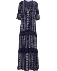 Jonathan Simkhai   Embroidered Cotton-voile Tiered Maxi Dress   Lyst