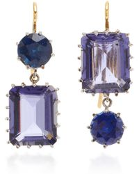 Renee Lewis - One-of-a-kind Sapphire And Quartz Earrings - Lyst