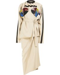Atelier Kikala - Hand Embroidered Asymmetrical Dress - Lyst