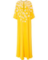Carolina Herrera - Floral Kimono Sleeve Caftan - Lyst