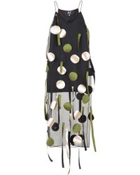 Atelier Kikala - 3d Embroidered Slip Dress - Lyst