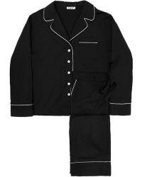 Sleeper - Editor's Black Pyjama Set With Trousers - Lyst