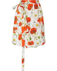 Alexis Mabille - Poppy Printed Wrap Skirt - Lyst