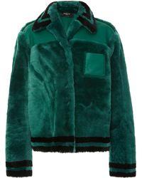 Rochas - Striped Shearling Jacket - Lyst