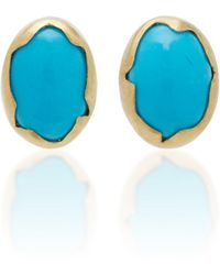 Annette Ferdinandsen - Eggs 18k Gold Turquoise Earrings - Lyst