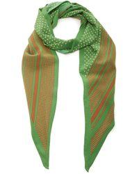 Philosophy Di Lorenzo Serafini - Printed Crepe De Chine Headscarf - Lyst