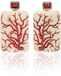 Silvia Furmanovich - Marquetry Coral Earrings - Lyst