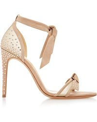 Alexandre Birman - Clarita Swarovski Crystal-embellished Suede And Woven Sandals - Lyst