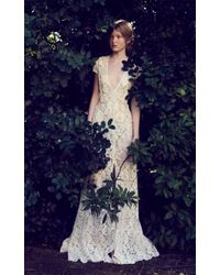Costarellos Bridal - Front Split Tube Lace Dress - Lyst