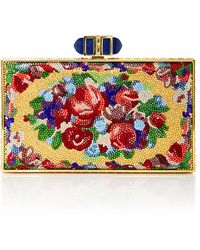 Judith Leiber - Aubusson Coffered Rectangle Clutch - Lyst