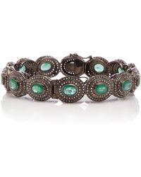 Sanjay Kasliwal - Silver, Emerald And Diamond Bracelet - Lyst