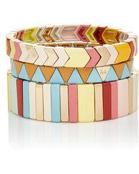 Roxanne Assoulin - Set Of Three Enamel And Gold-tone Bracelets - Lyst