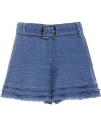 Alexis - Jaymes Cotton Fringe Shorts - Lyst