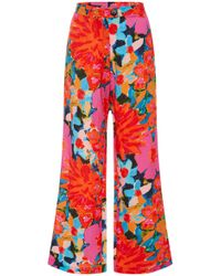Mara Hoffman - Arlene Floral-print Cropped Flared Pants - Lyst