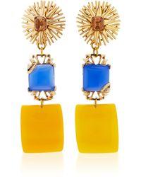 Lulu Frost - One-of-a-kind Vintage Vibrant Topaz Glass Drop Earrings - Lyst
