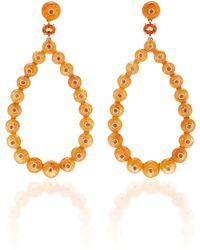 Nina Runsdorf - M'o Exclusive Spessartite Bead Frontal Hoop Earrings - Lyst