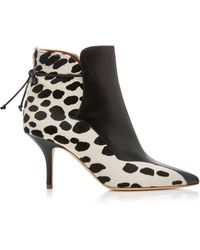 Malone Souliers - Jordan Leather-paneled Calf-hair Ankle Boots - Lyst