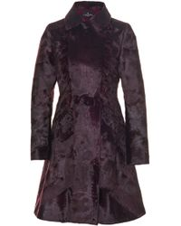 J. Mendel - Collared Peplum Broadtail Fur Coat - Lyst