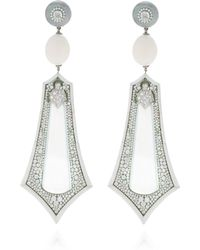 Arunashi - One-of-a-kind Imperial White Jade Earrings - Lyst