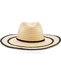Filù Hats - Batu Tara Picot-trimmed Straw Hat - Lyst