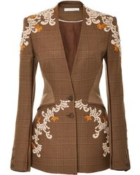 Jonathan Simkhai - Wool Applique Basque Jacket - Lyst
