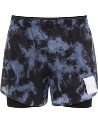 Satisfy - Long Distance Printed Shell Running Shorts - Lyst