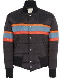 Greg Lauren - Nylon Puffy Varsity Jacket - Lyst