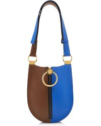 Marni - Earring Small Color Block Leather-blend Bag - Lyst