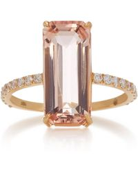 Yi Collection - 18k Gold Morganite Deco Ring - Lyst