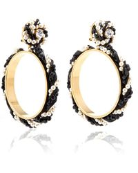 Shourouk - Riri Black Earrings - Lyst