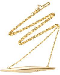 Established - Mini Torpedo 18k Gold Necklace - Lyst
