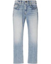 Current/Elliott - His Raw Hem Straight Leg Jeans - Lyst