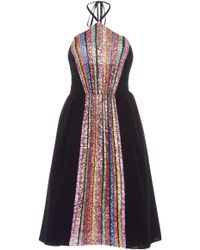 Georges Hobeika - Embellished Halter Neckline Dress - Lyst