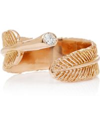 Daniela Villegas - Wing 18k Rose Gold Diamond Ring - Lyst