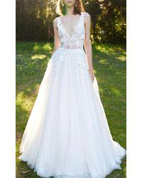 Costarellos Bridal - Floral Mesh Ballgown - Lyst