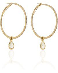 Nina Runsdorf - Flip 18k Gold, Citrine And Diamond Hoop Earrings - Lyst